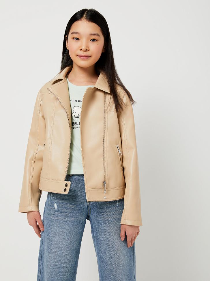 Куртка-косуха для девочек (бежевый, 146/ 11-12 YEARS)