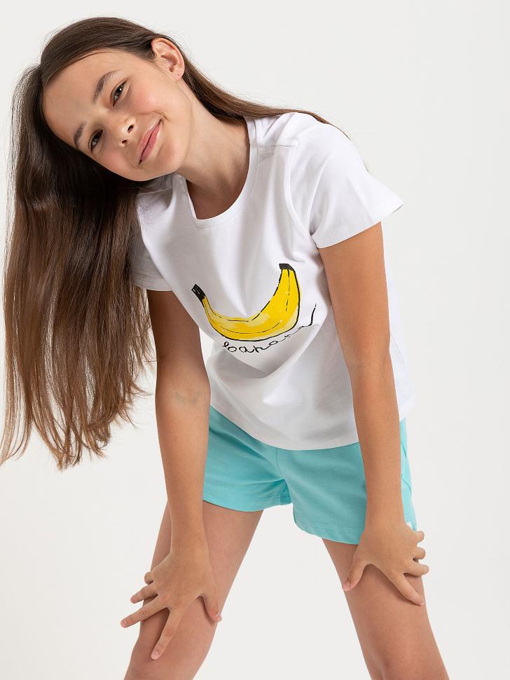 SELA шорты для девочек (бирюзовый, 146/ 11-12 YEARS)