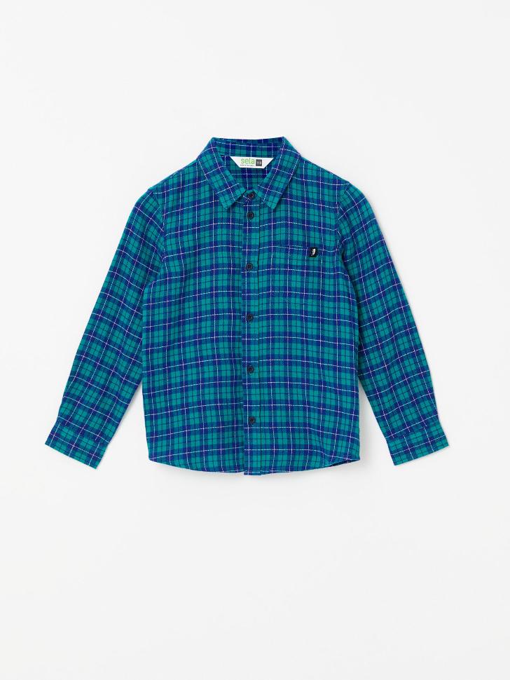 Рубашка в клетку для мальчиков (зеленый, 92/ 2-3 YEARS)