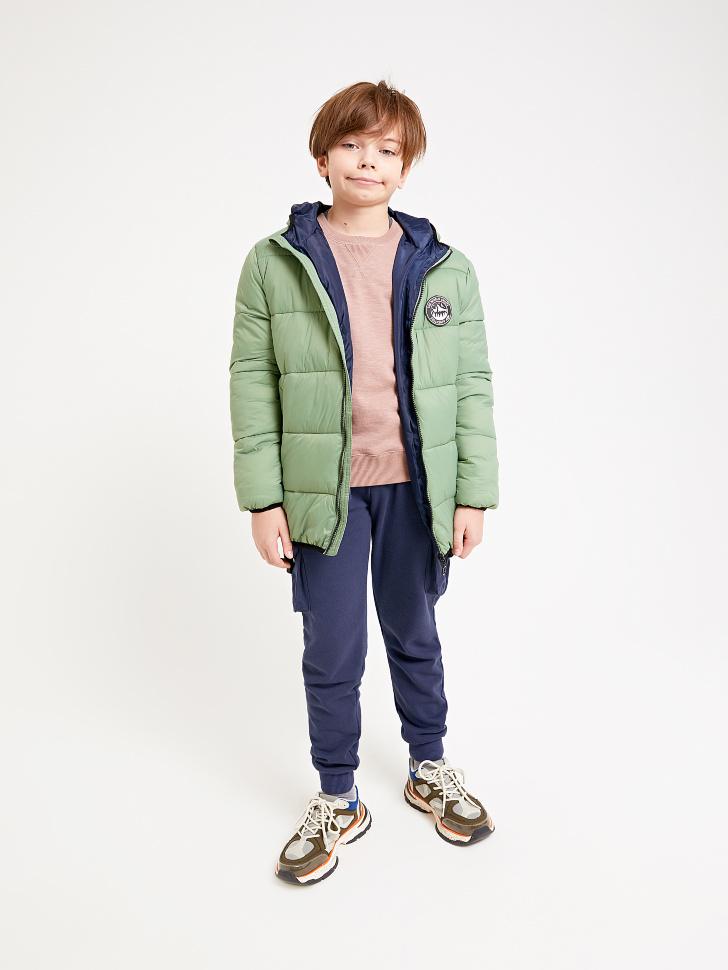 Купить со скидкой стеганая куртка с капюшоном для мальчиков (зеленый, 140/ 10-11 YEARS)