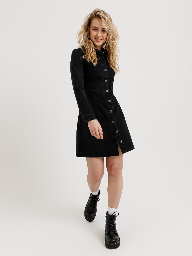 джинсовое платье (черный, S)