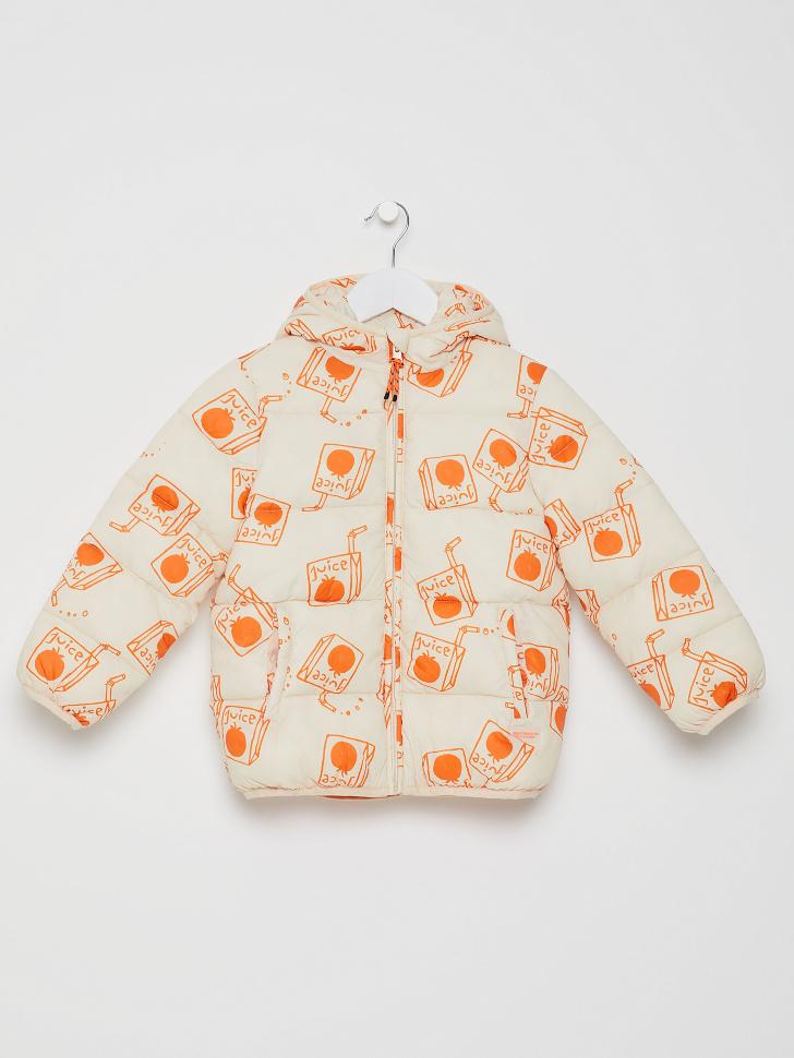 куртка для девочек (оранжевый, 116/ 6-7 YEARS)