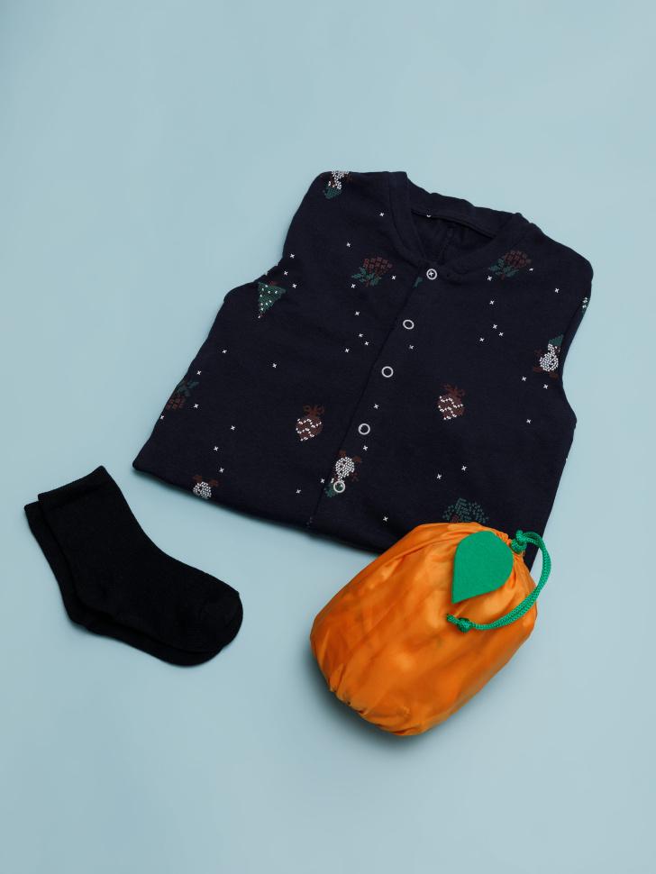 Набор пижамный в подарочной упаковке для мальчиков (синий, 92-98 (2-3 YEARS))