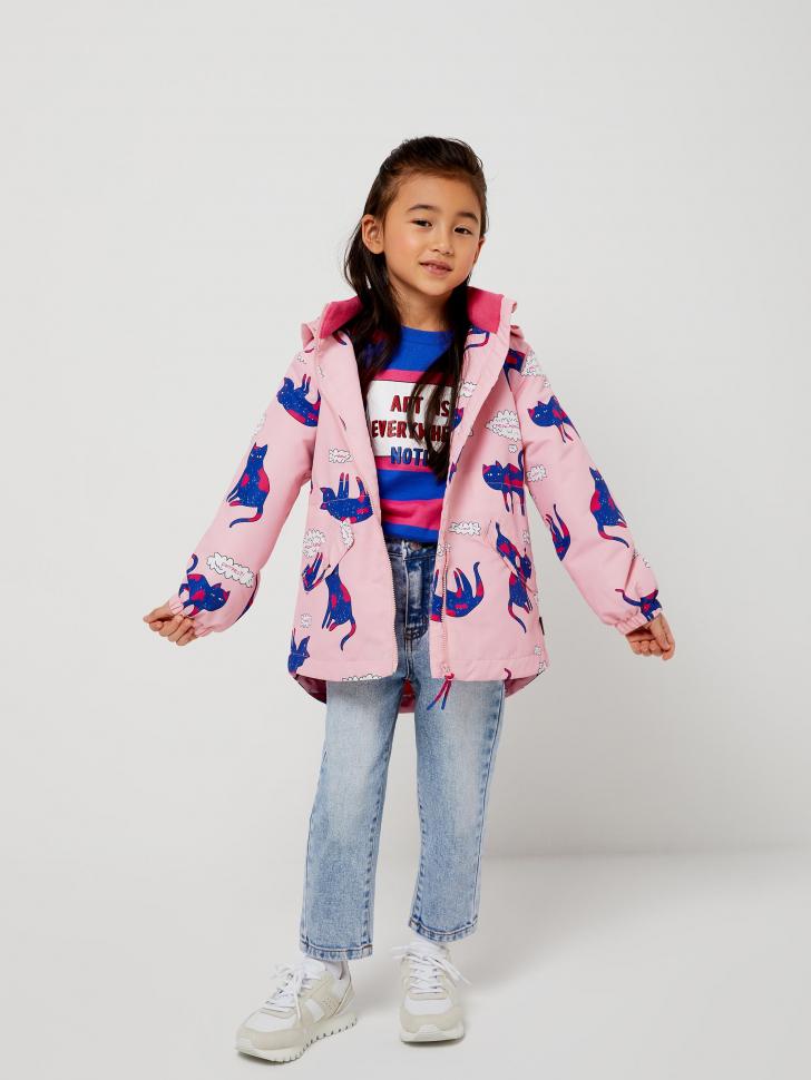 Куртка на флисовой подкладке для девочек (розовый, 104/ 4-5 YEARS)