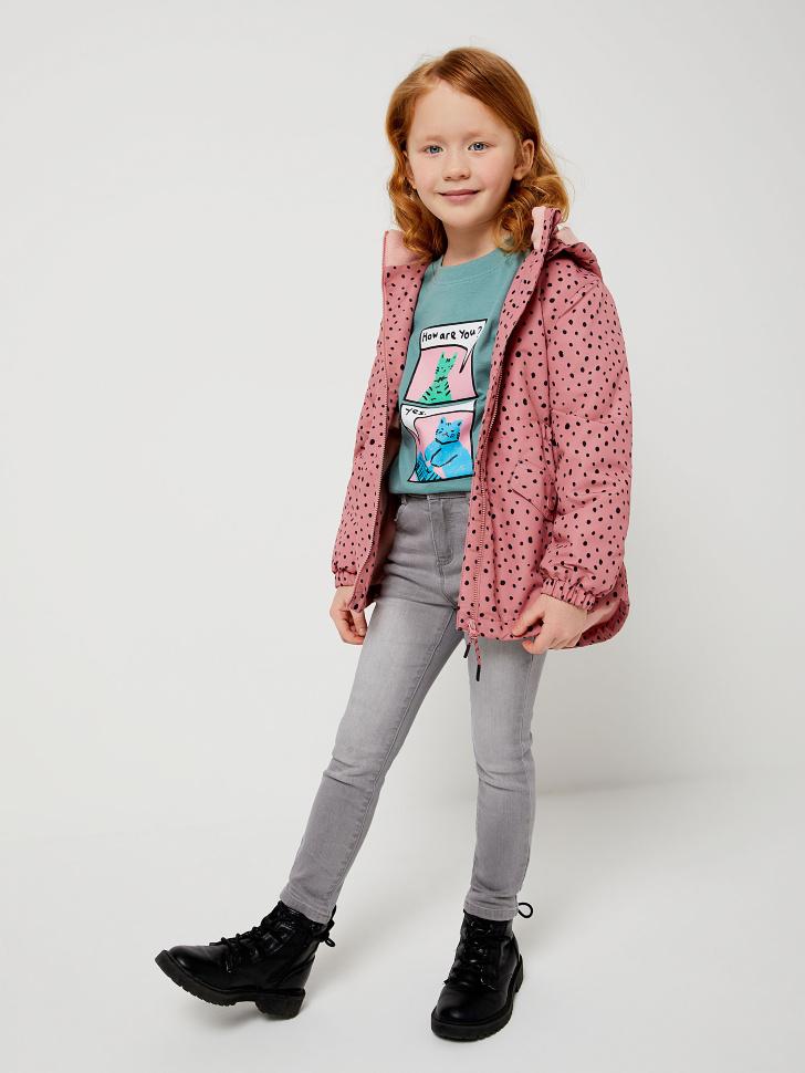 Куртка на флисовой подкладке для девочек (розовый, 98/ 3-4 YEARS)