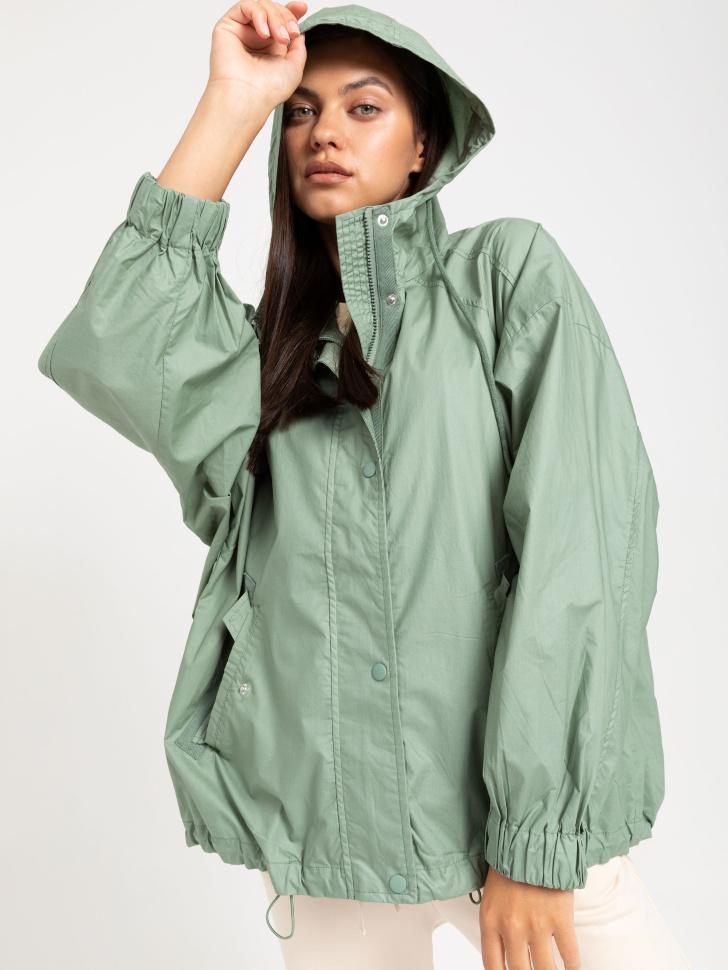 SELA куртка с капюшоном (зеленый, S)