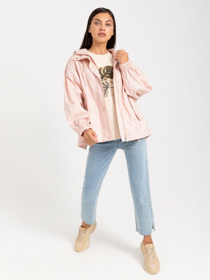 SELA куртка с капюшоном (розовый, S)